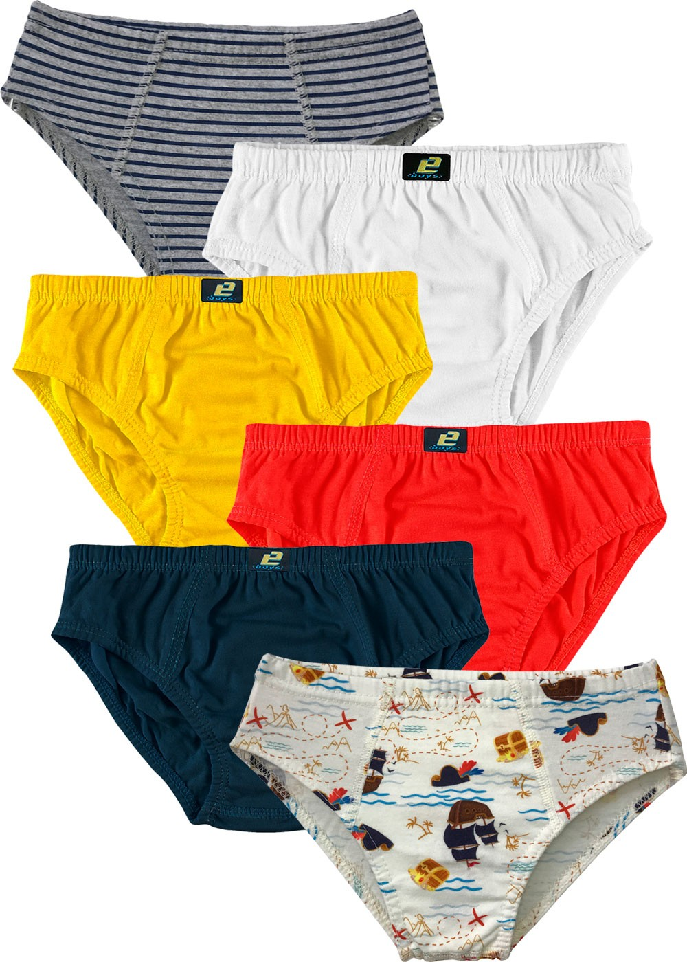 Kit 6 Cueca Infantil Slip - Everly