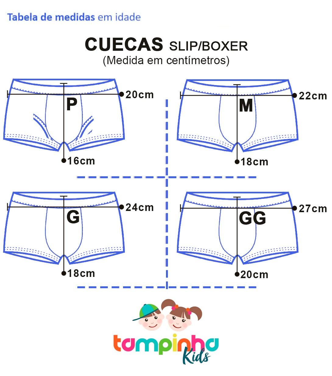 Kit 9 Cueca Infantil Slip Tampinha