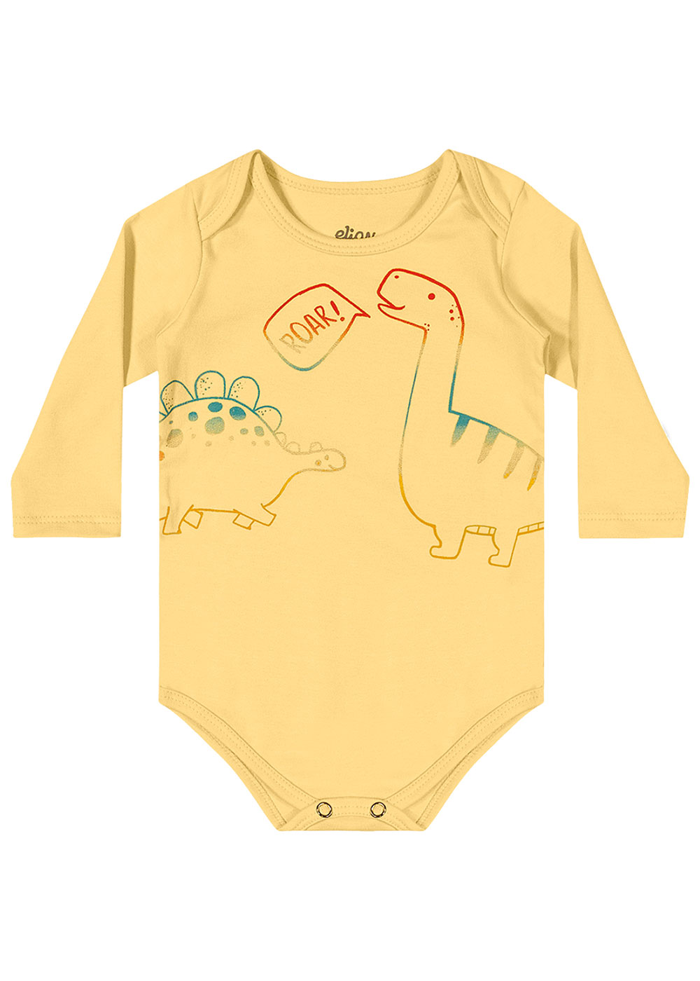 Kit Body Infantil Masculino Inverno Cinza Dino Baby - Elian