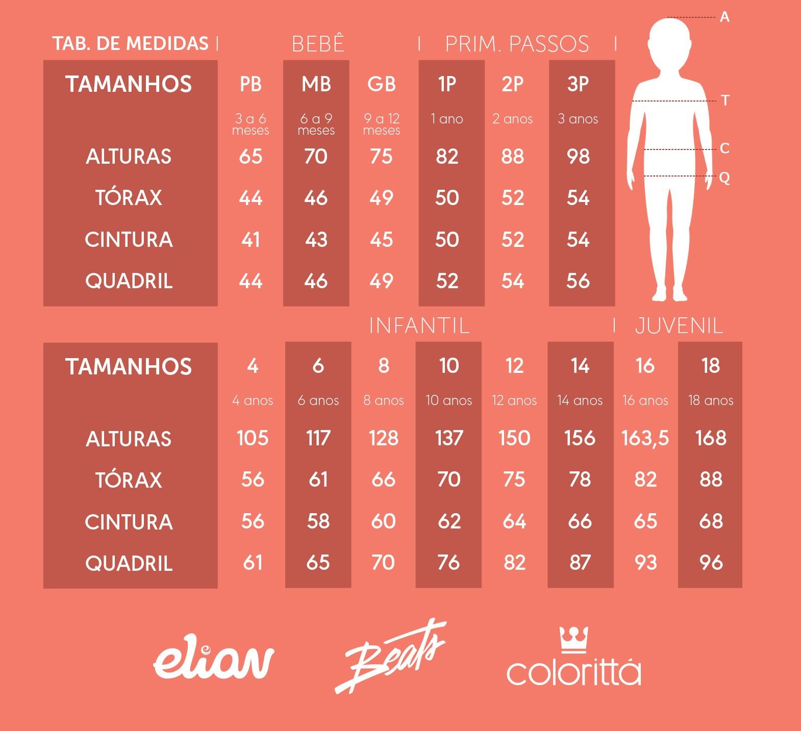 Kit com 3 Blusa Infantil Feminina Básica Elian