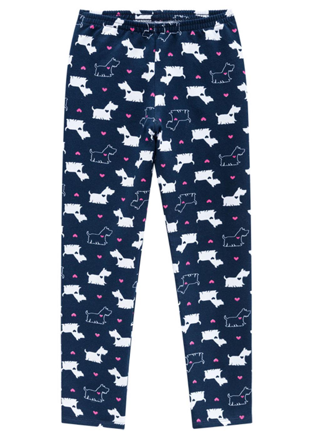 Legging Infantil Feminina Kit 3 Rosa Dogs - Kyly