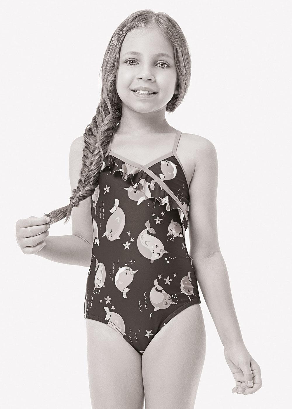 Maiô Feminino Infantil Verão Rosa Tie Dye Malwee