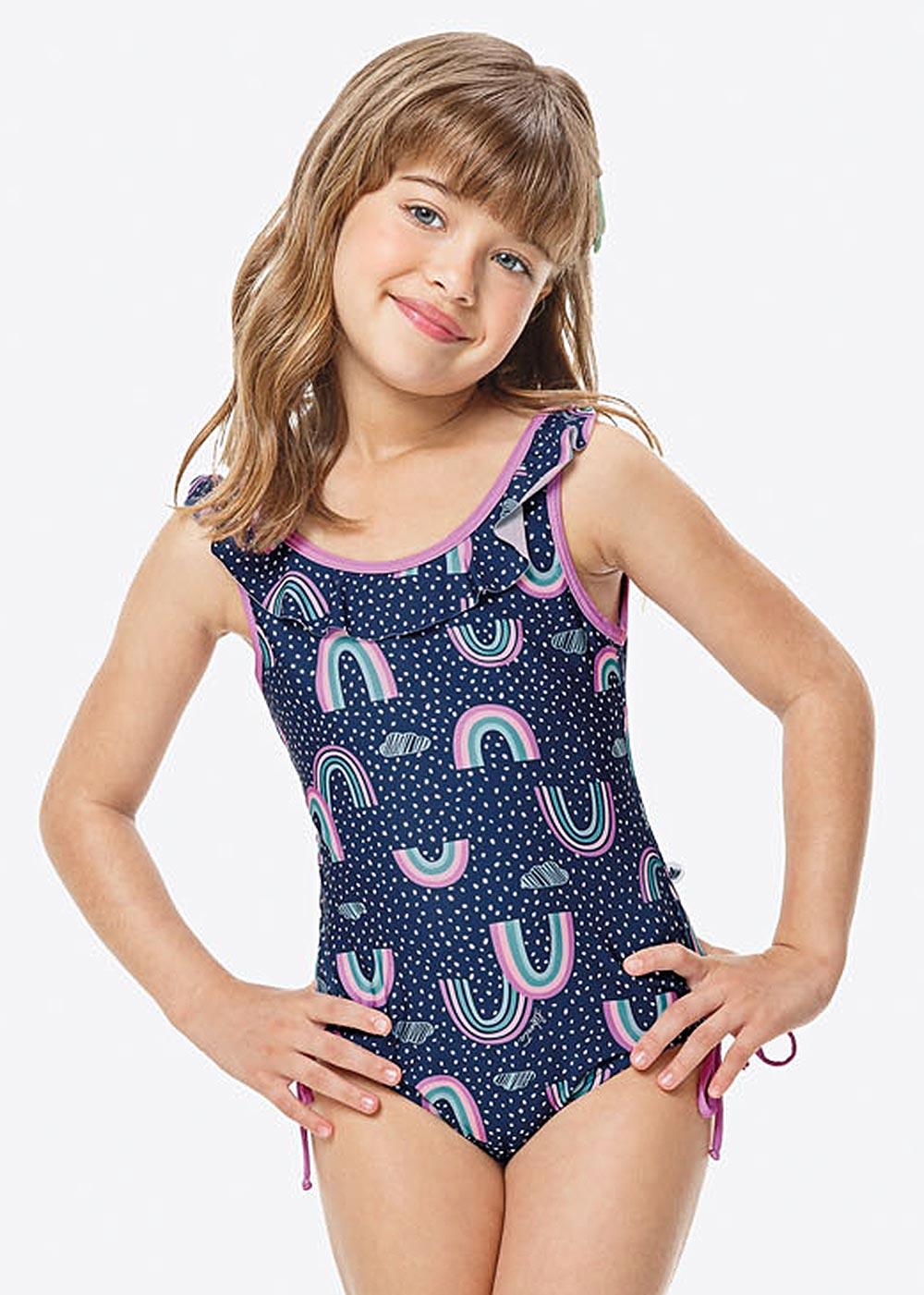 Maiô Infantil Verão Azul Rainbow Malwee