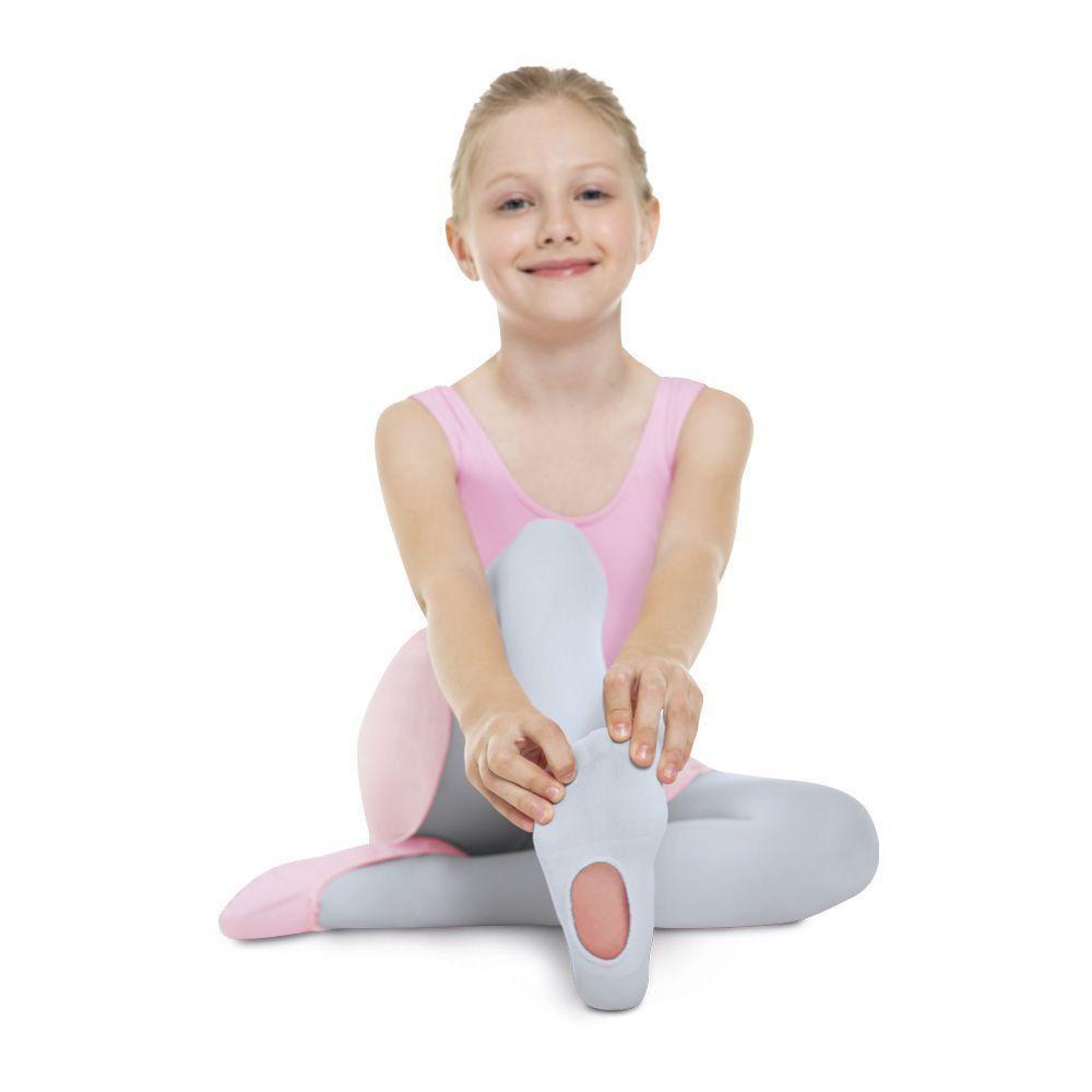 Meia Calça Infantil Ballet Versátil Branca Fio 60 Lupo
