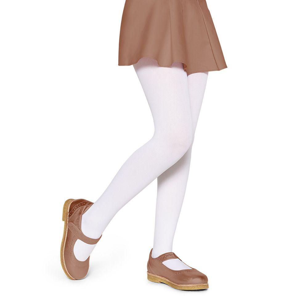 Meia Calça Infantil Branca Fio 40 Lupo