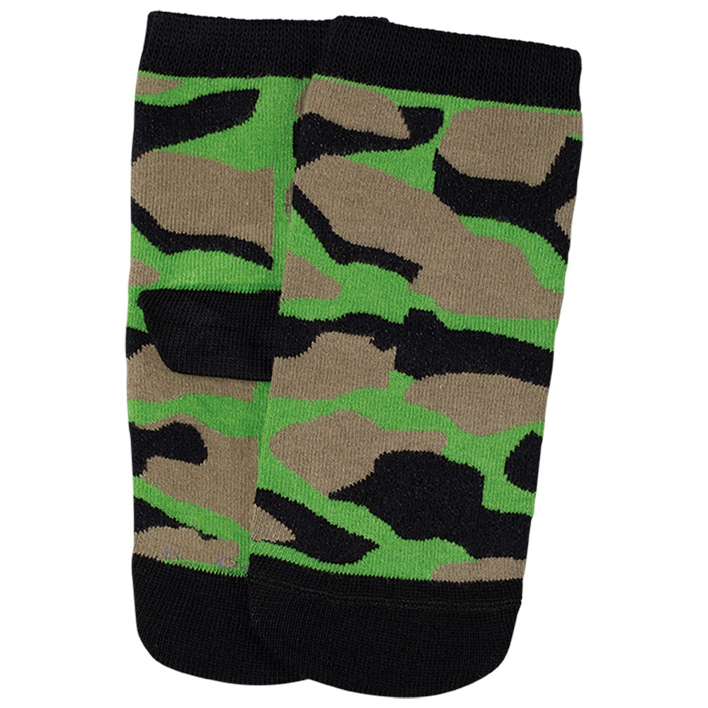 Meia Cano Alto Infantil Masculina Verde Militar Kit 3 Pares Lupo