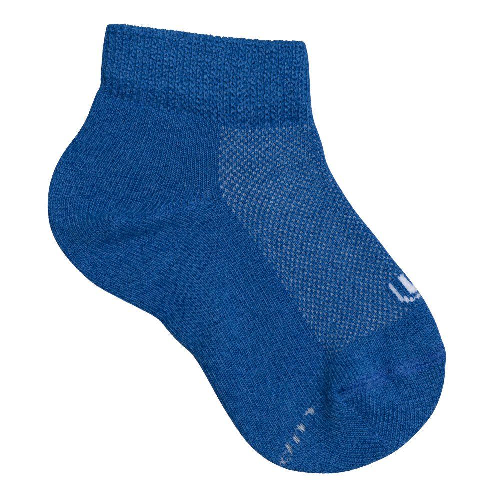 Meia com Cano Infantil Masculina Azul Kit 9 Pares Lupo