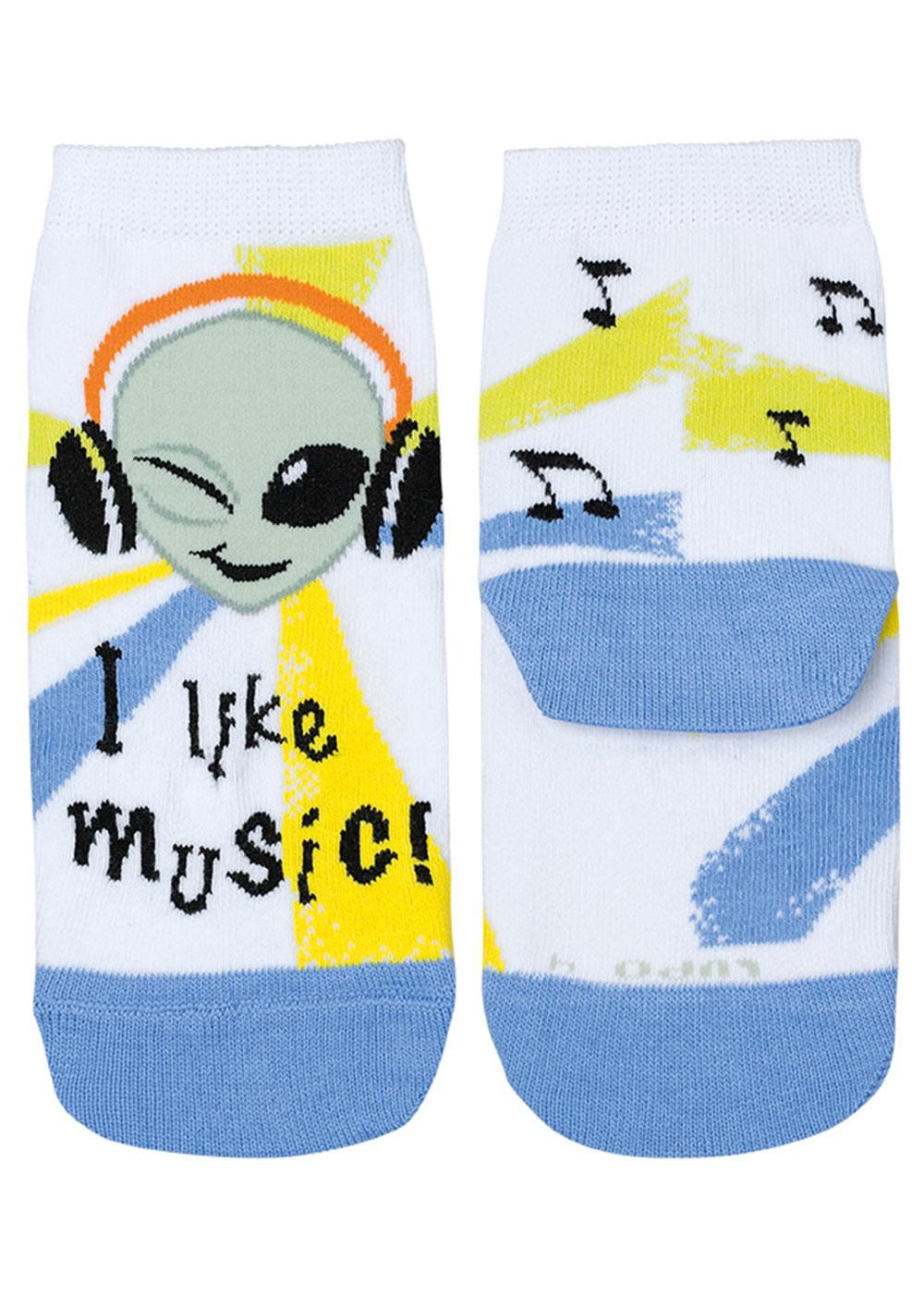 Meia com Cano Infantil Azul Music Lupo