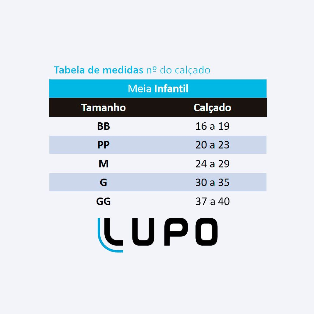 Meia Sapatilha Infantil Cores Kit 3 Lupo