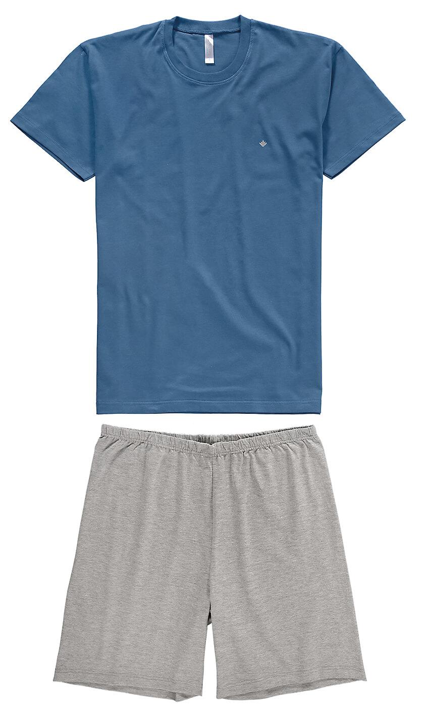 Pijama ADULTO Masculino Verão Azul Malwee