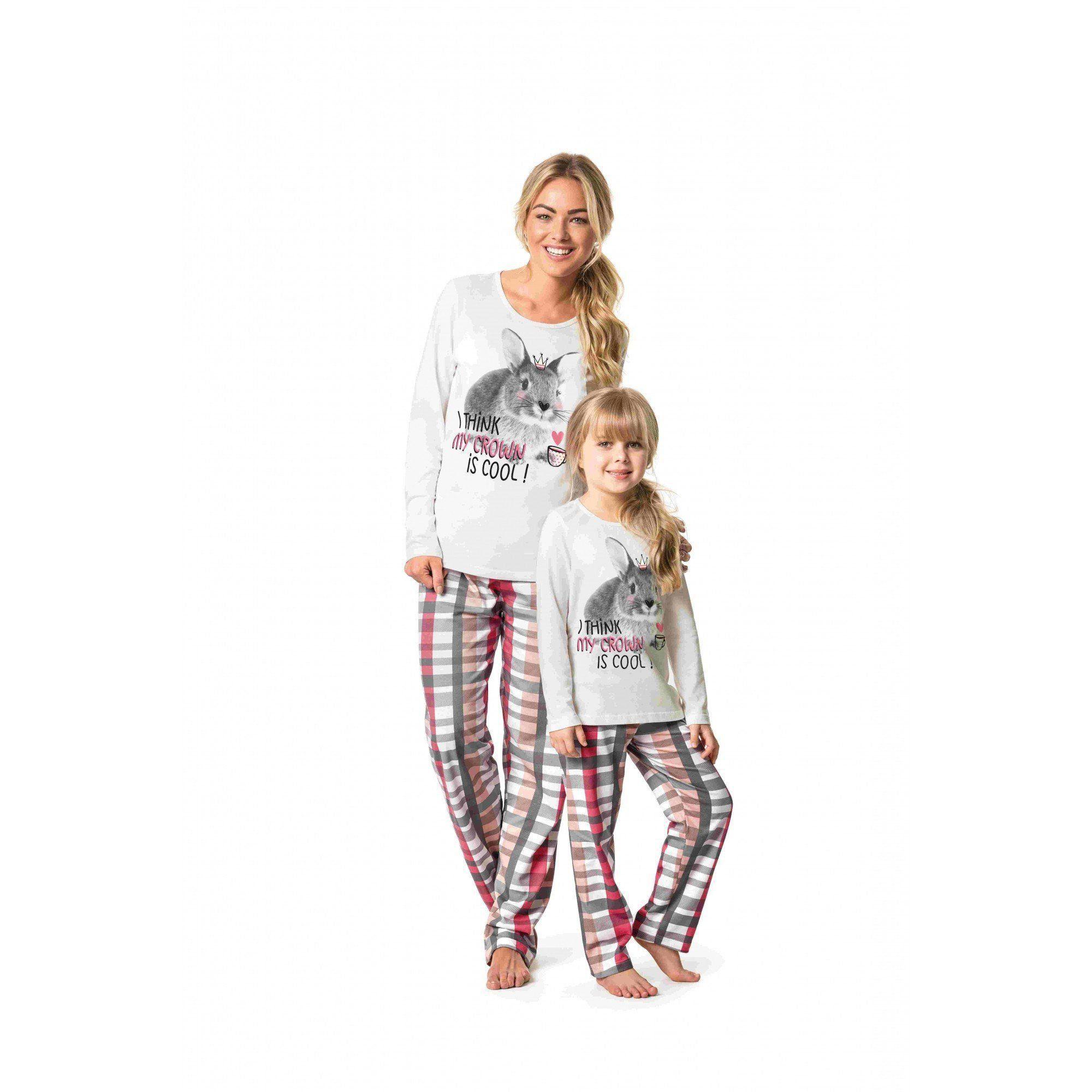Pijama Feminino Infantil Inverno OffWhite Coelho Malwee