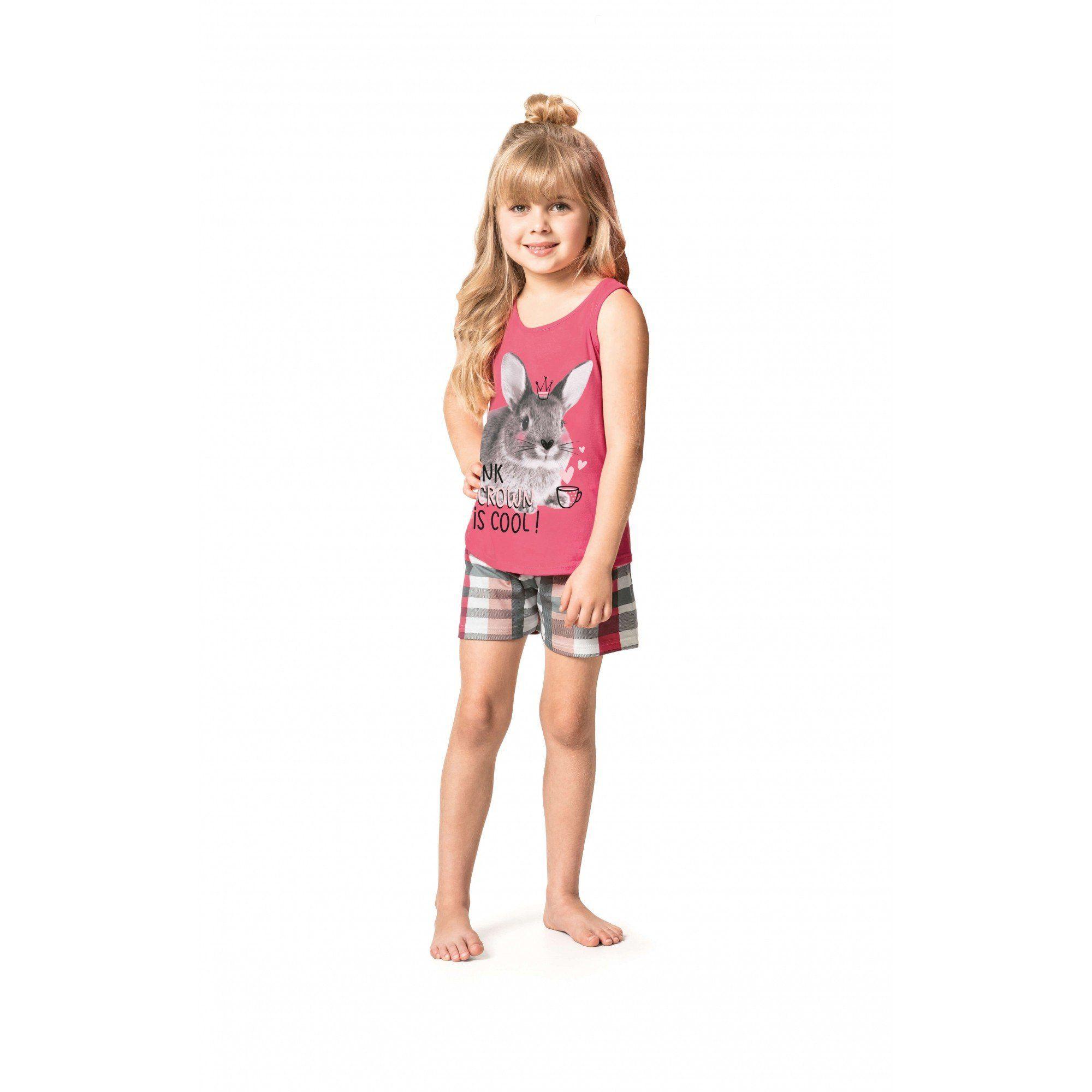 Pijama Feminino Infantil Verão Rosa Coelho Malwee