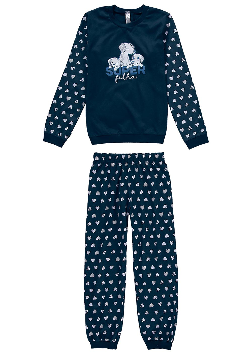 Pijama Infantil Feminino Inverno Mãe e Filha Malwee