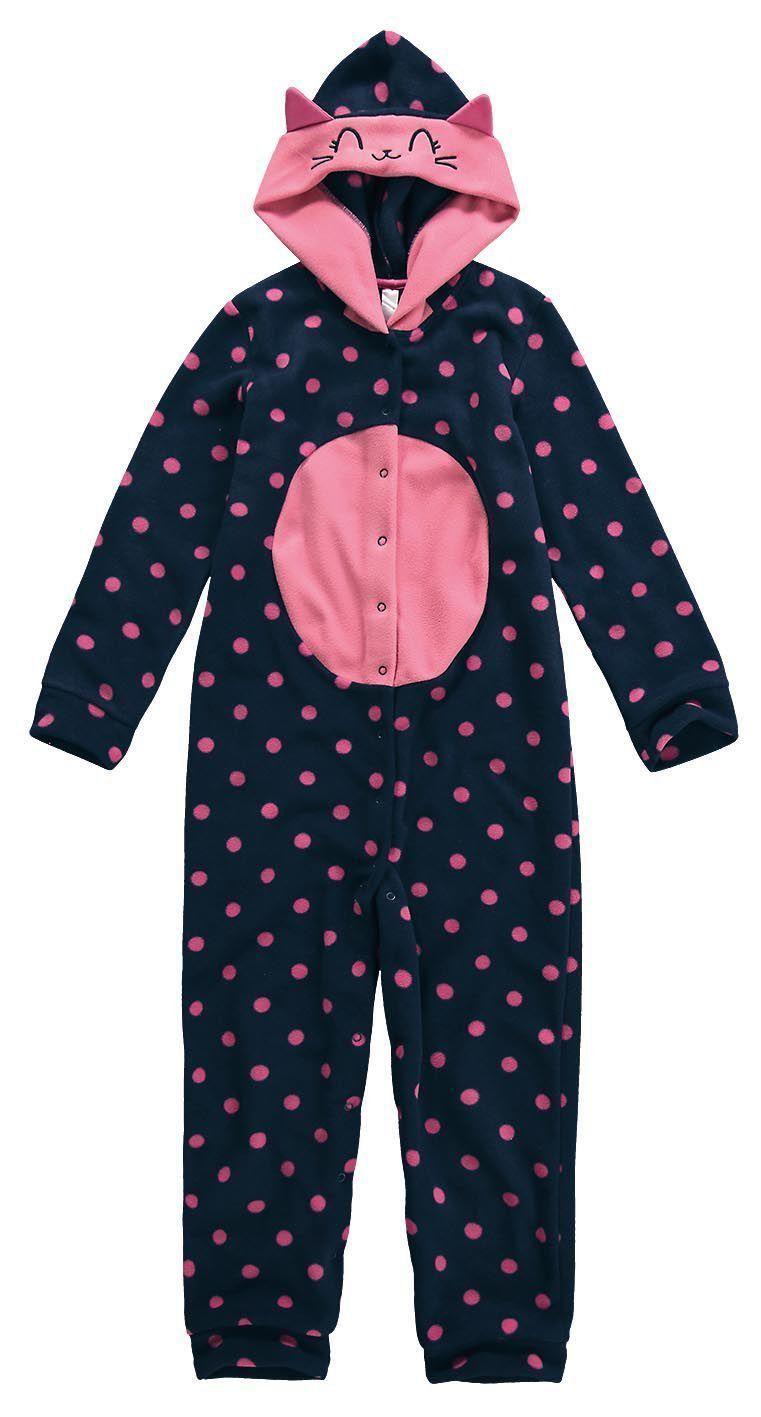 Pijama Infantil Feminino Inverno Marinho Gatinha Malwee
