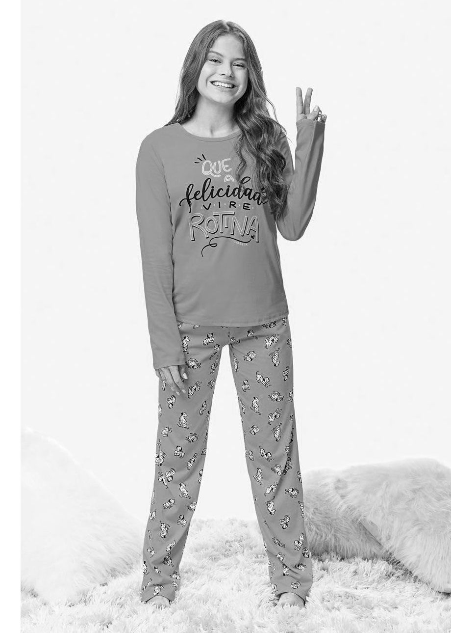 Pijama Infantil e Adulto Inverno Rosa Cupcake Malwee