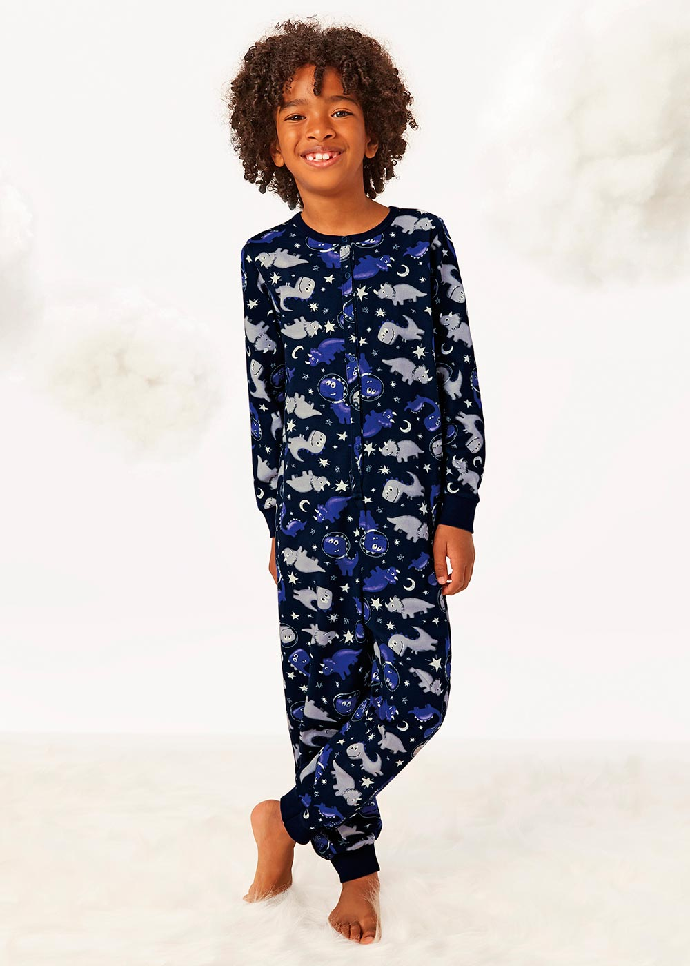 Macacão/Pijama Infantil Masculino Inverno Azul Malwee