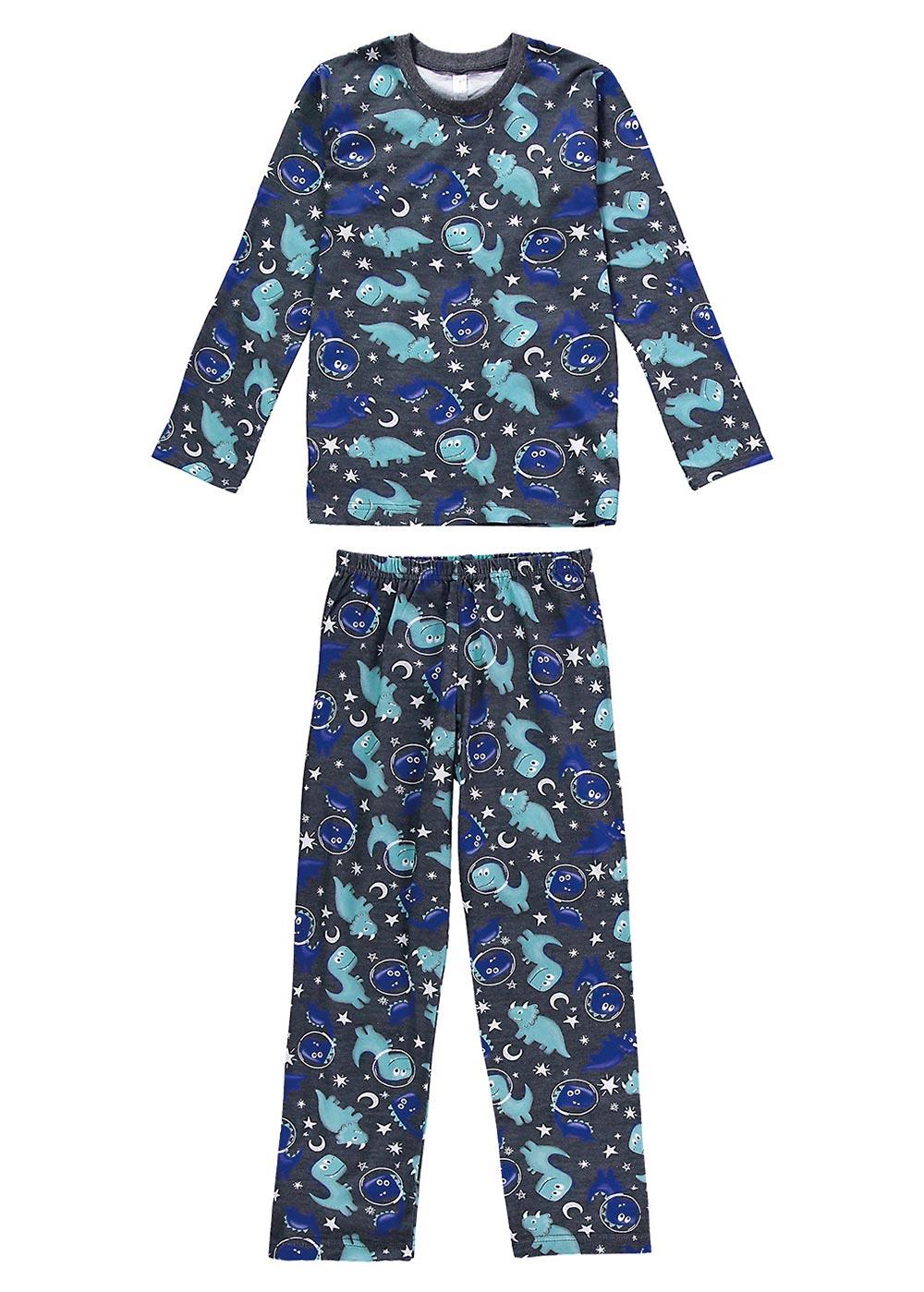 Pijama Infantil Masculino Inverno Cinza Astrodino Malwee