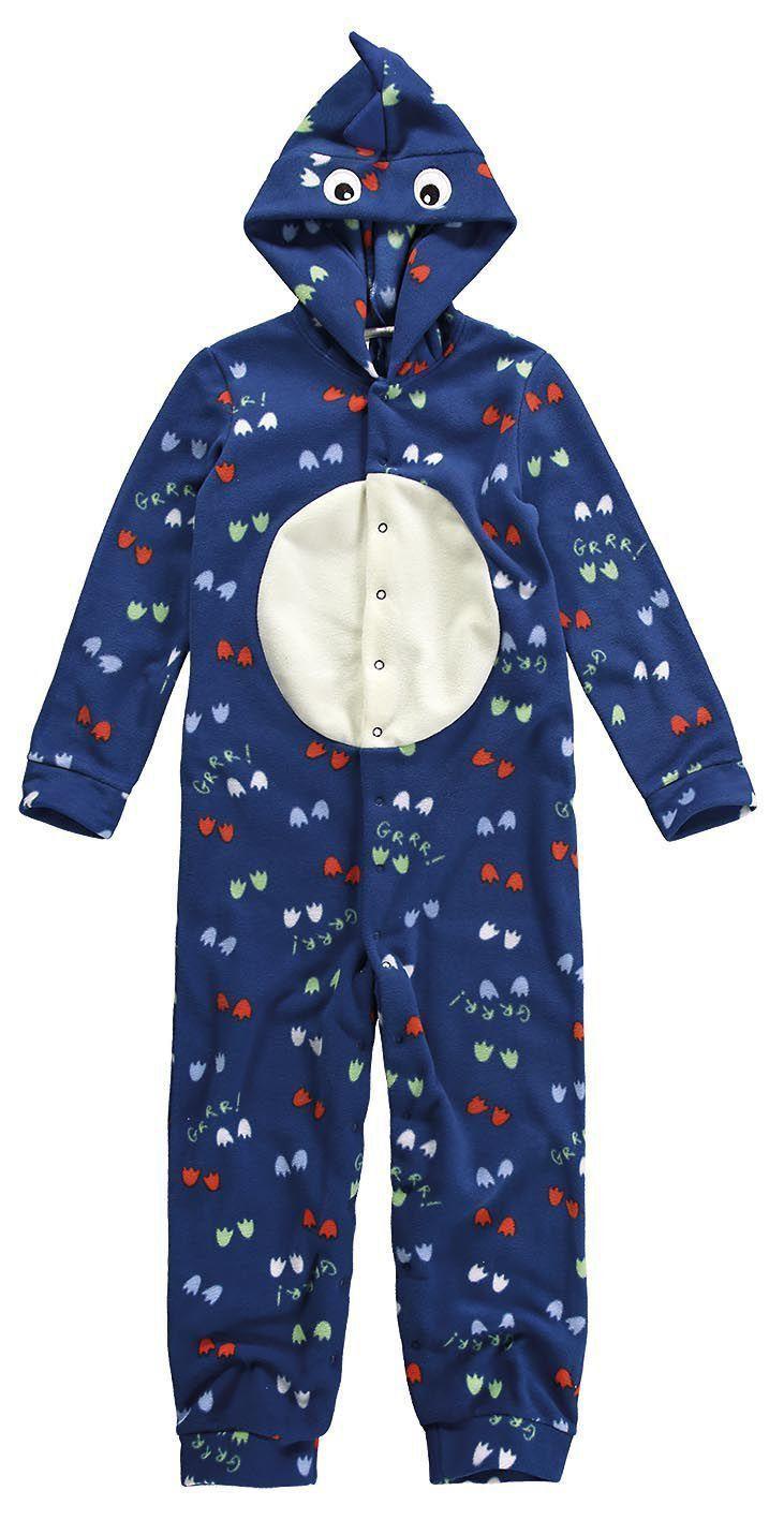 Pijama Infantil Masculino Inverno Azul Dinossauro Malwee