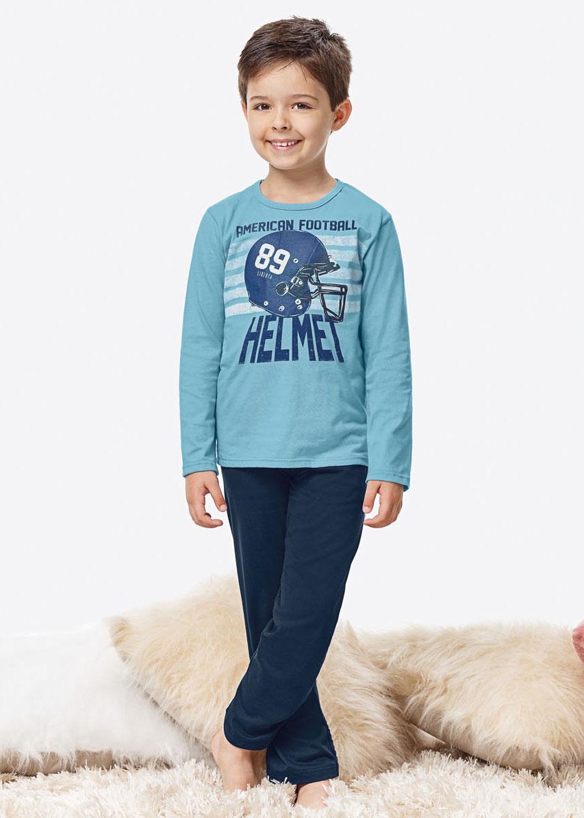 Pijama Infantil Masculino Inverno Azul Helmet Malwee