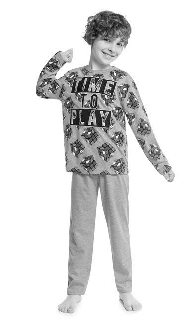 Pijama Infantil Masculino  Inverno Azul Play Kyly