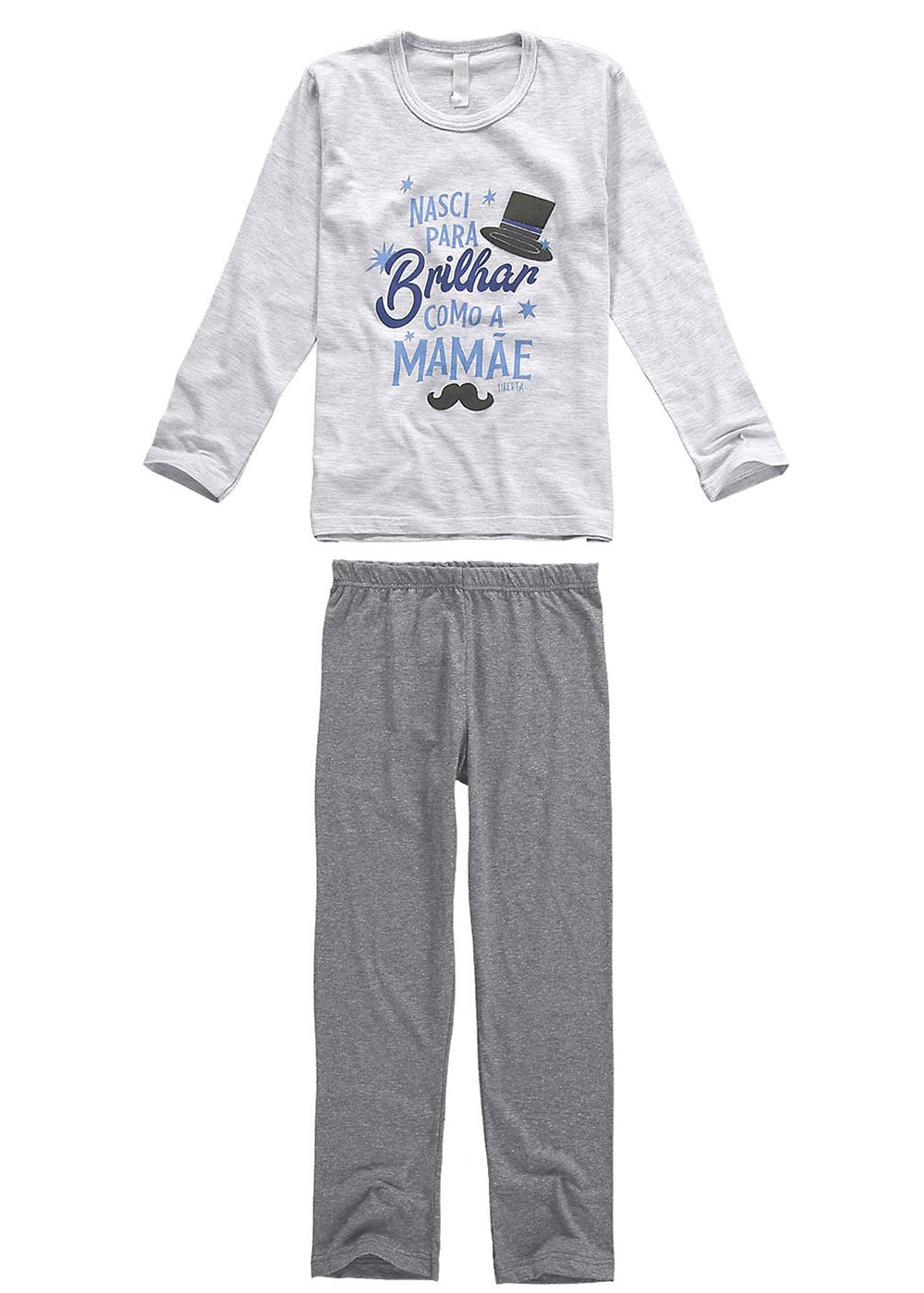Pijama Infantil Masculino  Inverno Cinza Born  Malwee