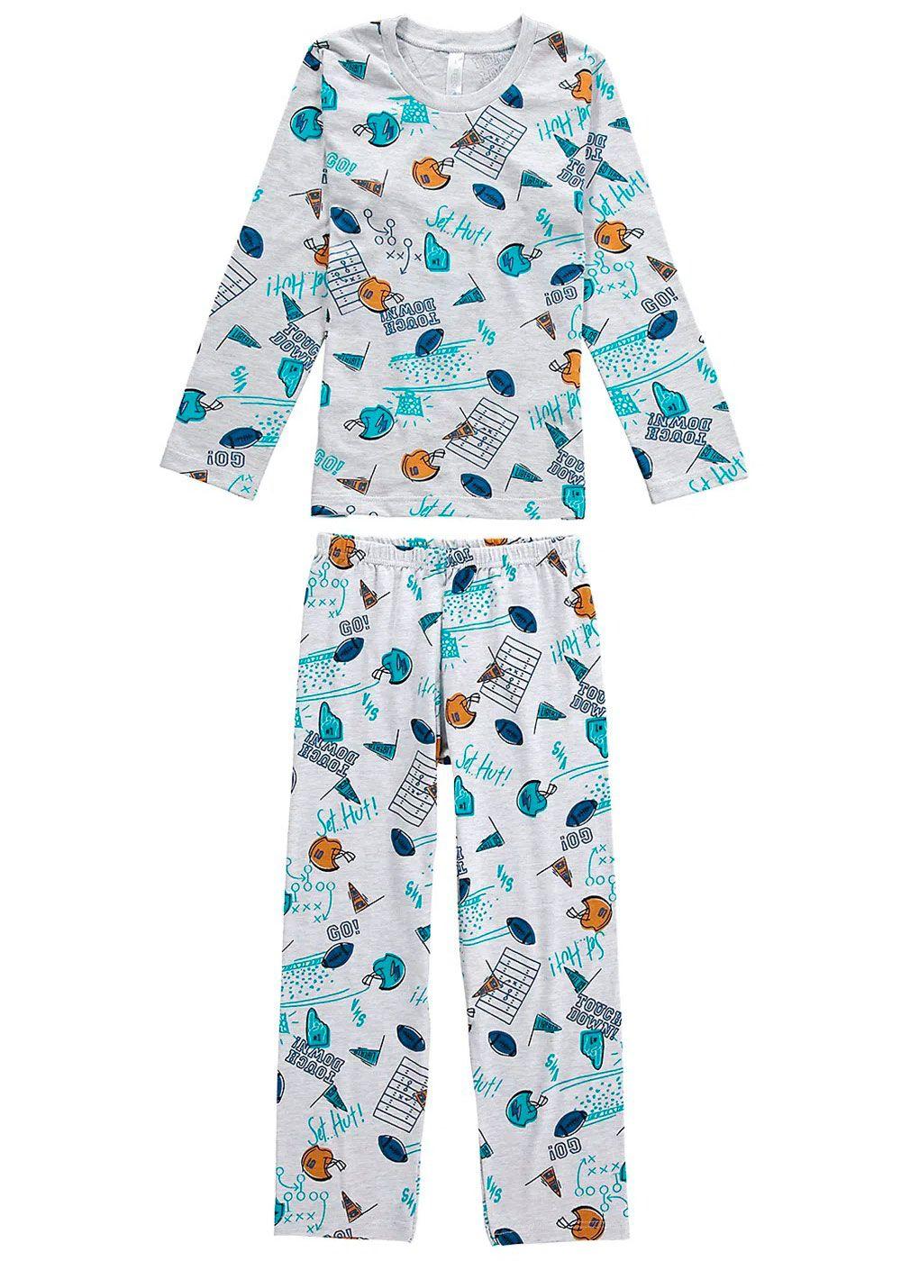 Pijama Infantil Masculino Inverno Cinza GO Malwee