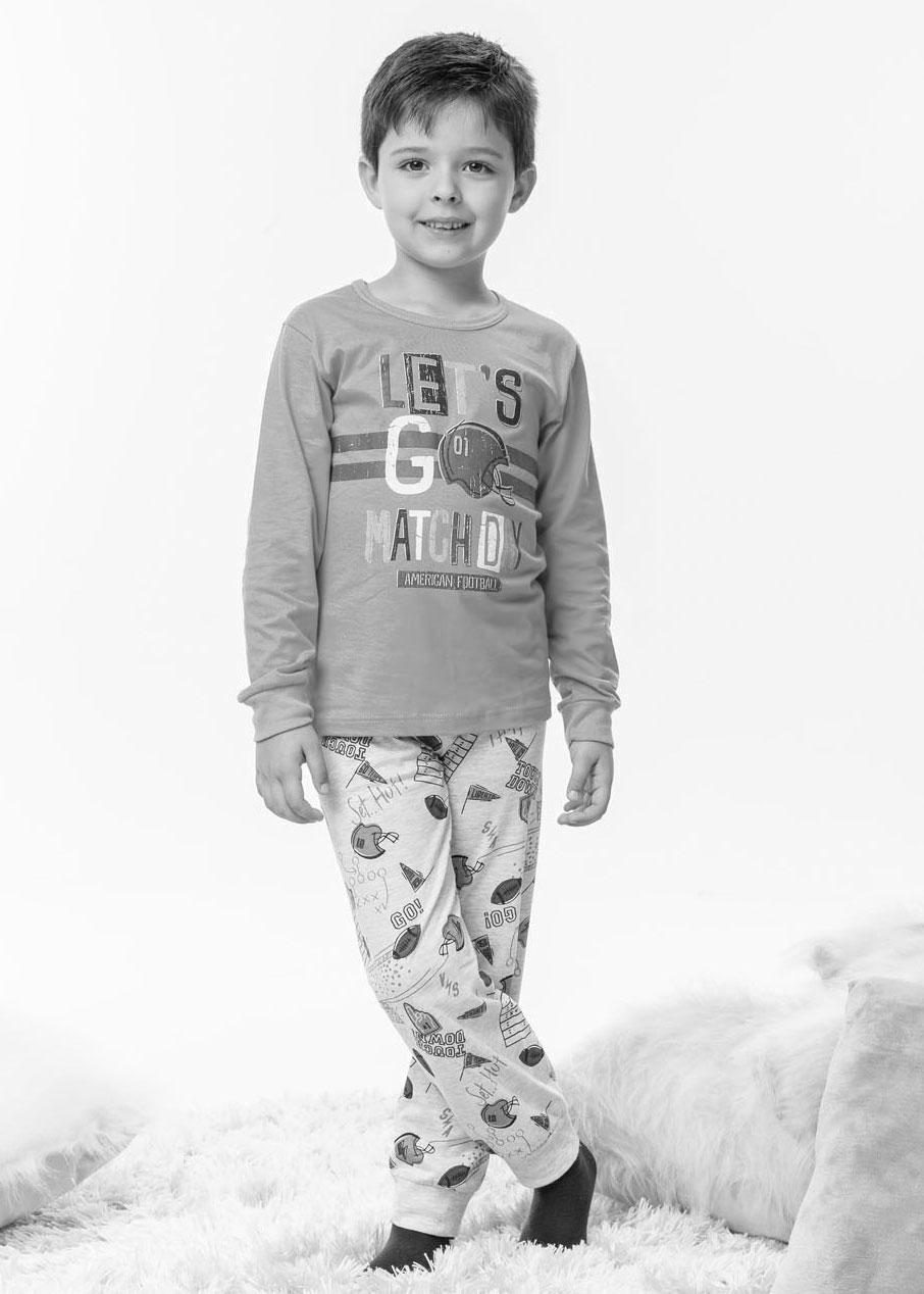 Pijama Infantil Masculino Inverno Cinza Let's Malwee