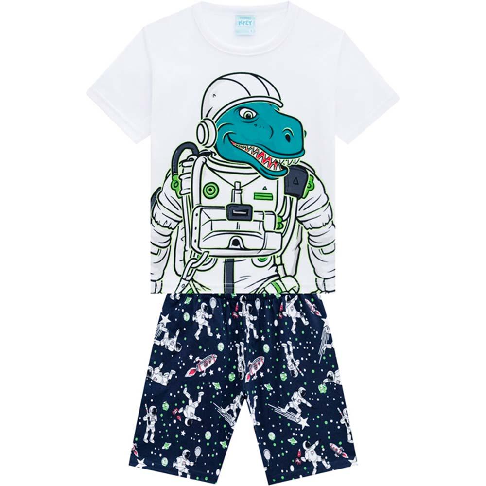 Pijama Masculino Infantil Brilha no Escuro Astrodino Kyly