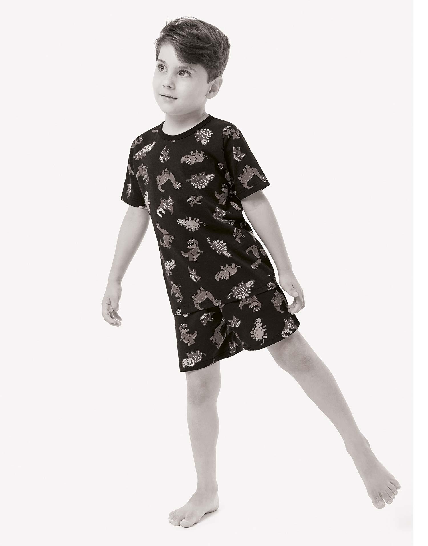 Pijama Infantil Masculino Verão Azul PitStop Malwee