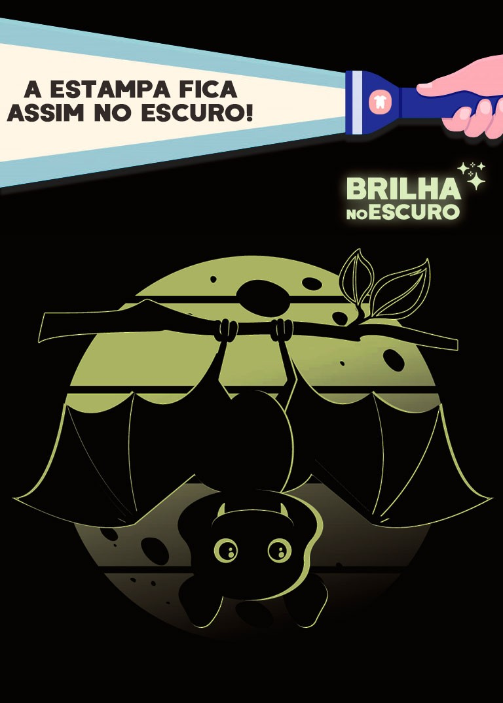 Pijama Infantil Masculino Morcego Preto Brilha no Escuro – Kyly