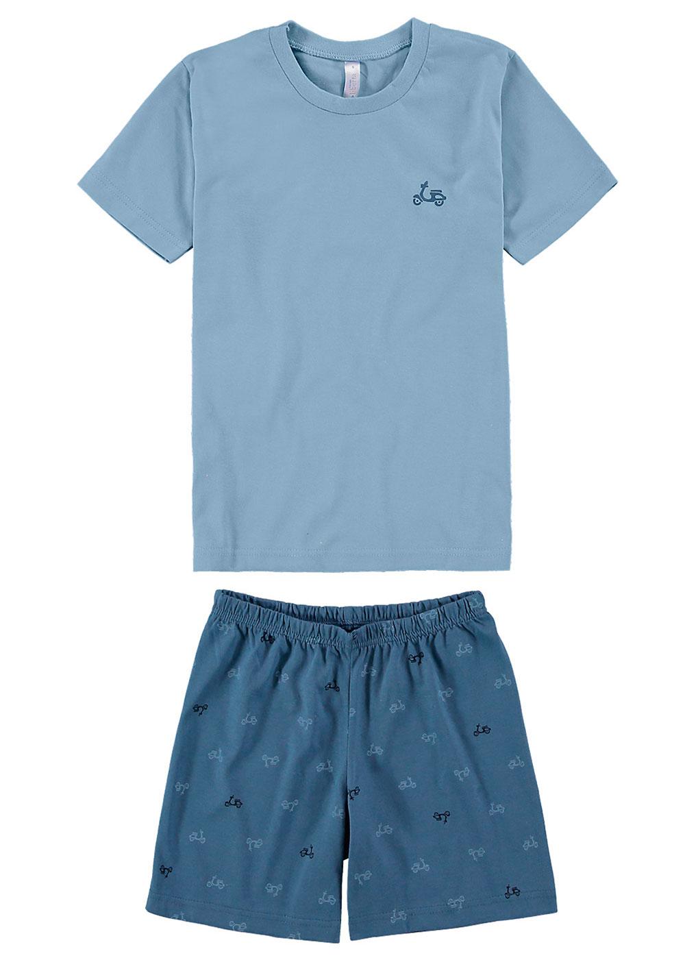 Pijama Infantil Masculino Pai e Filho Azul Malwee