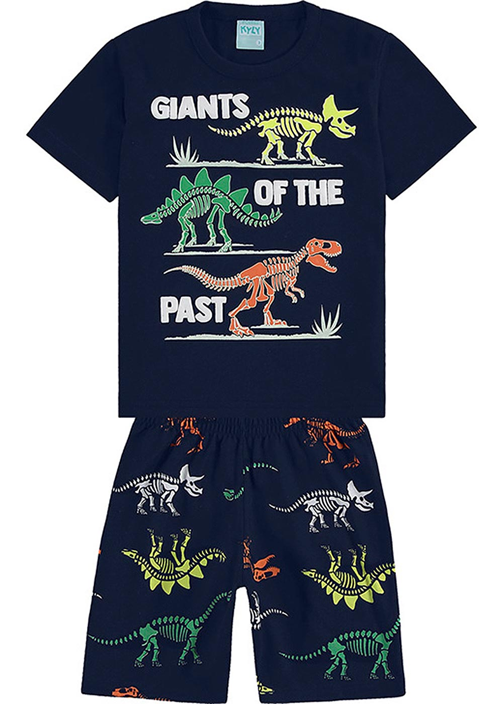 Pijama Infantil Masculino Verão Marinho Giants of Past - Kyly