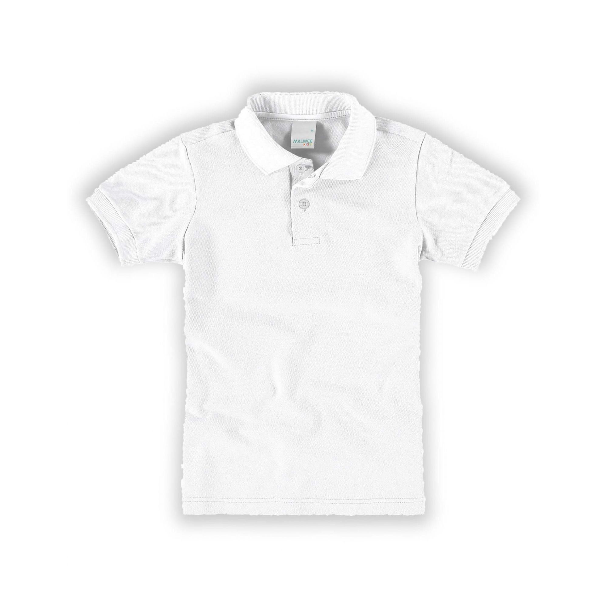 Polo Infantil Masculina Branca Malwee
