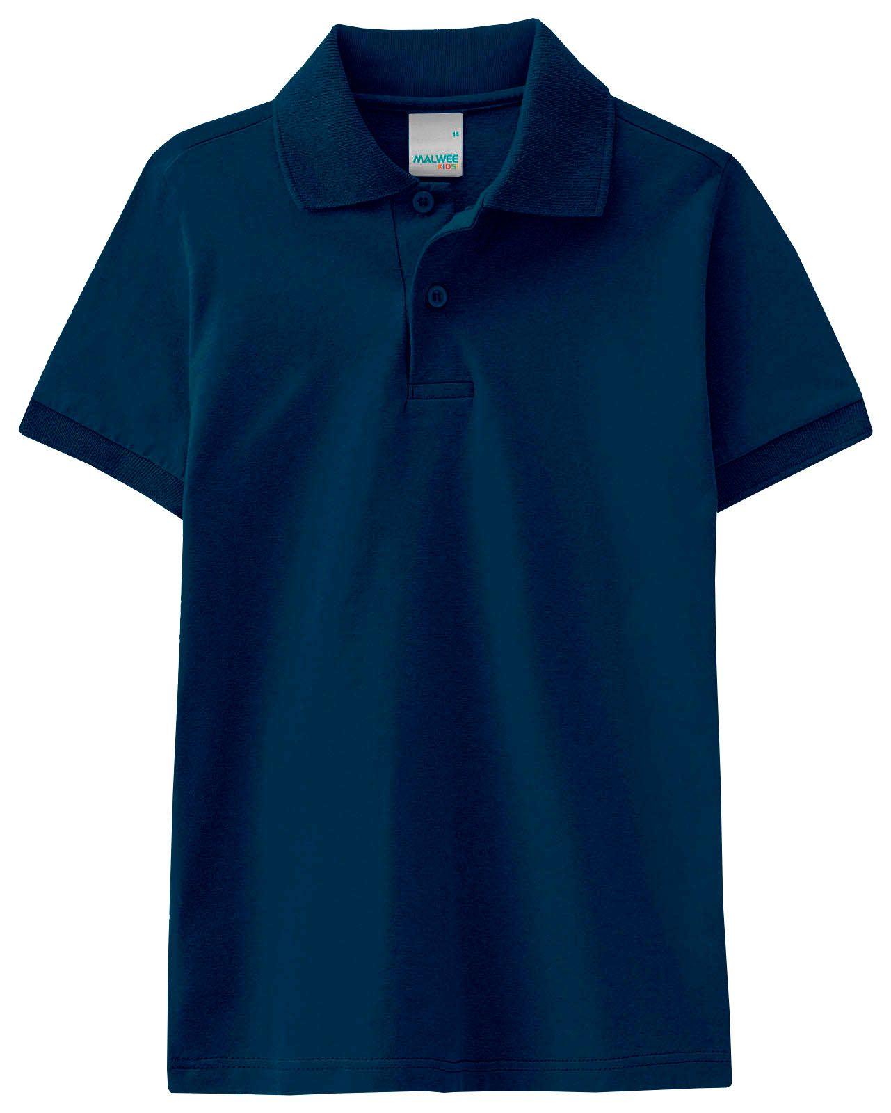 Polo Infantil Masculina Verão Azul Malwee