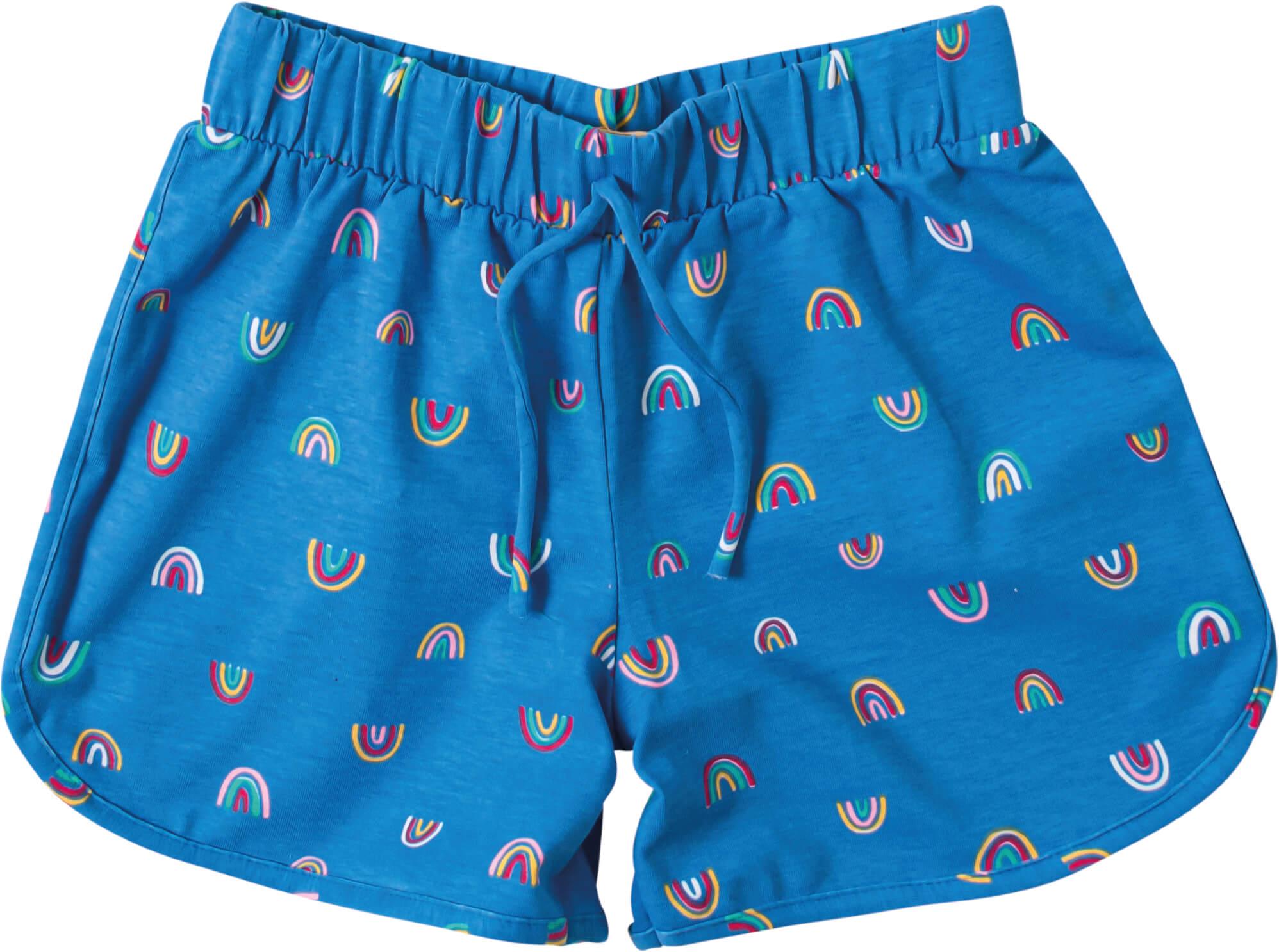 Short Infantil Feminino Azul Arco Íris - Malwee
