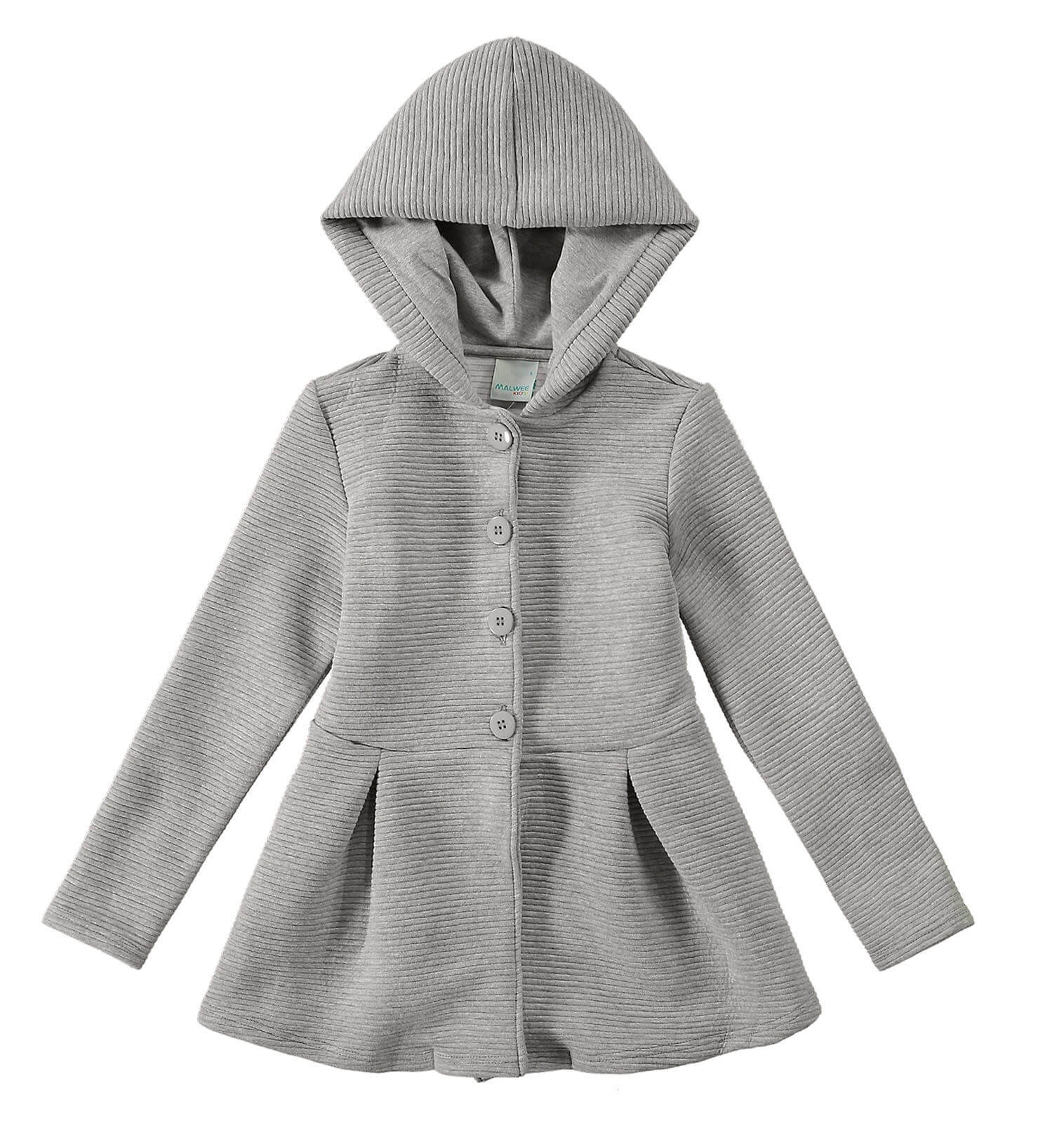 Sobretudo Infantil Feminino Inverno Cinza Mescla Malwee