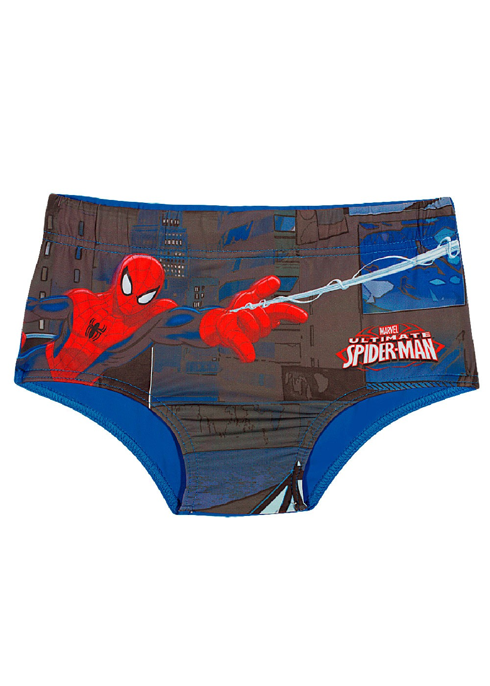 Sunga Slip Infantil Verão Azul Spiderman Tip Top