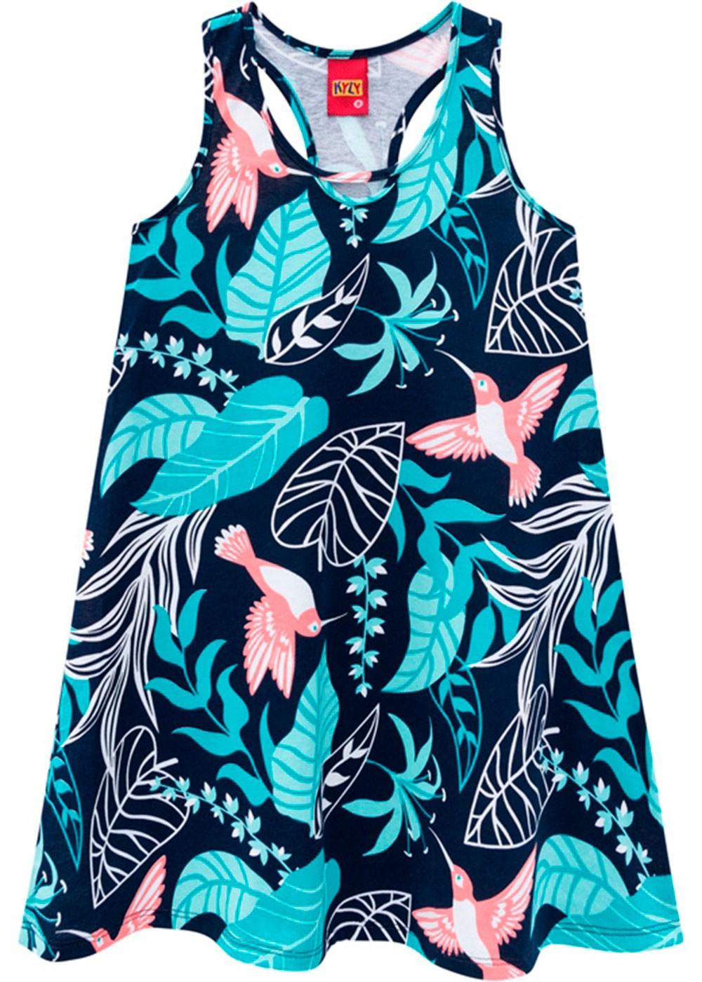 Vestido Infantil Azul Marinho - Kyly