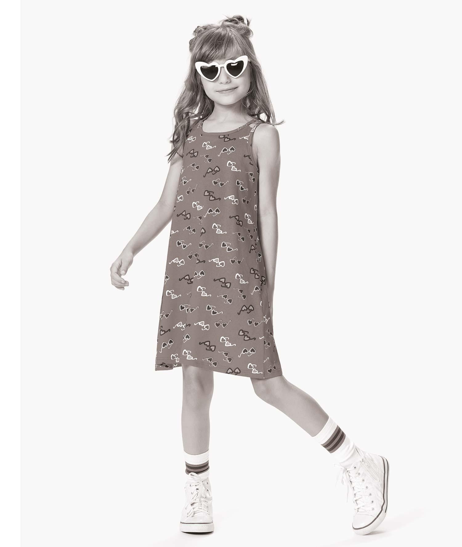 Vestido Infantil Verão Verde Market Malwee