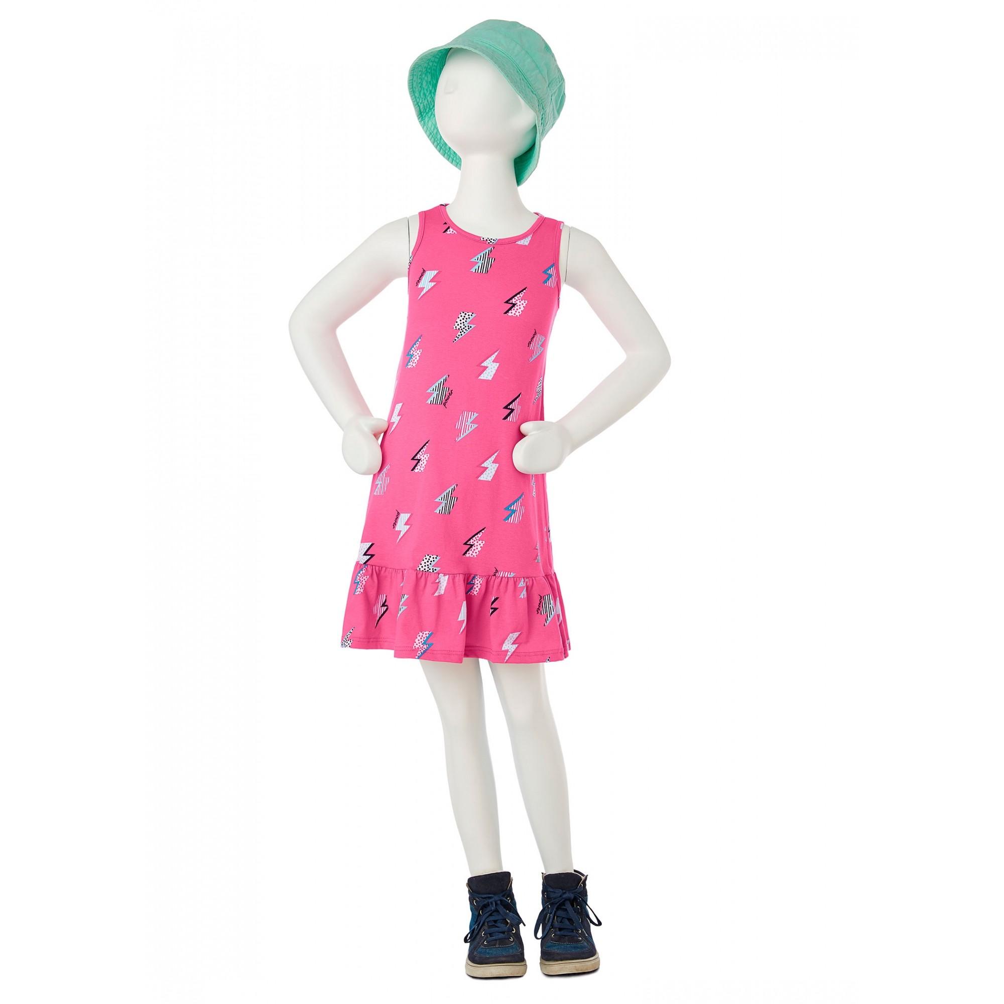 Vestido Infantil Raios Rosa - Malwee