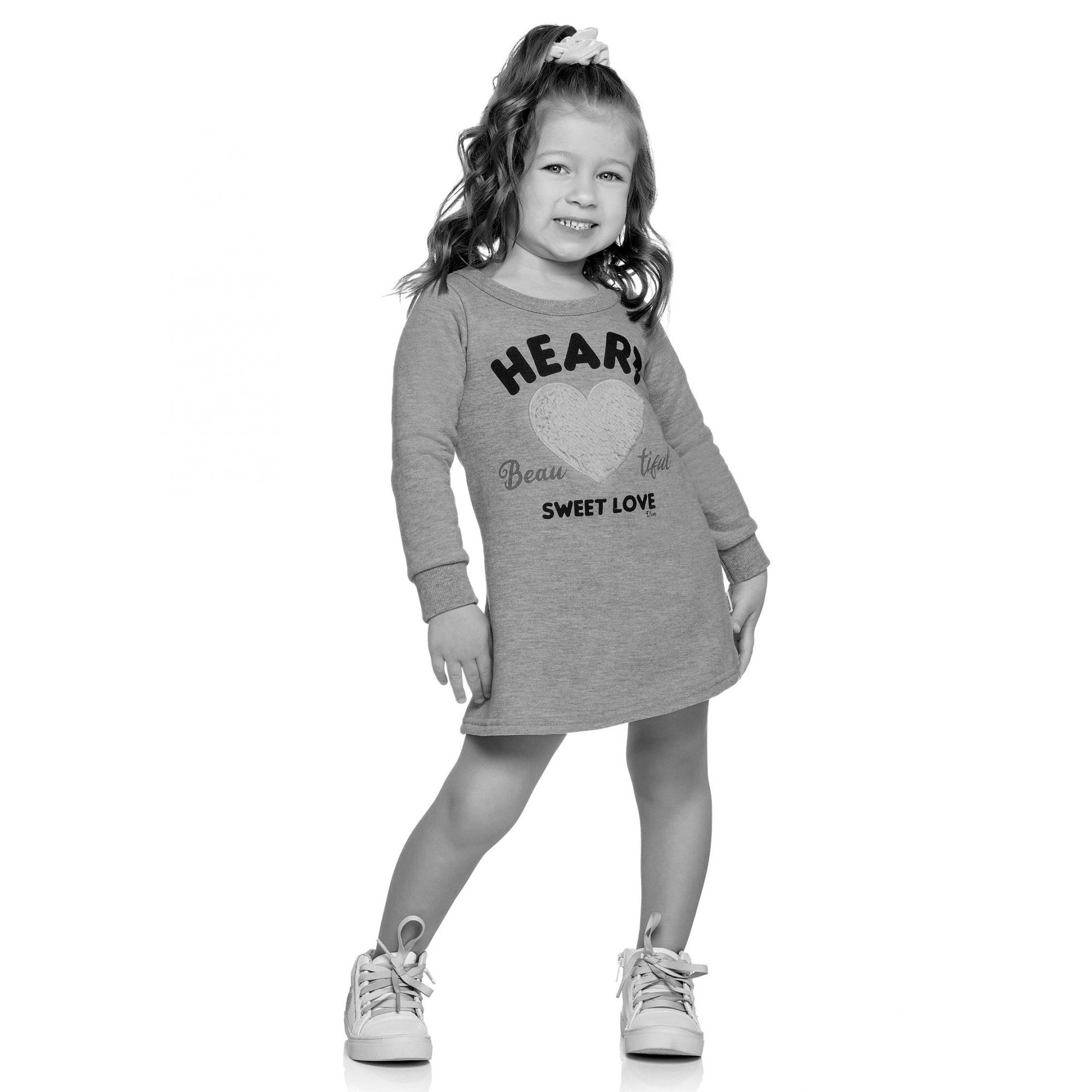 Vestido Infantil Inverno Preto Heart Elian