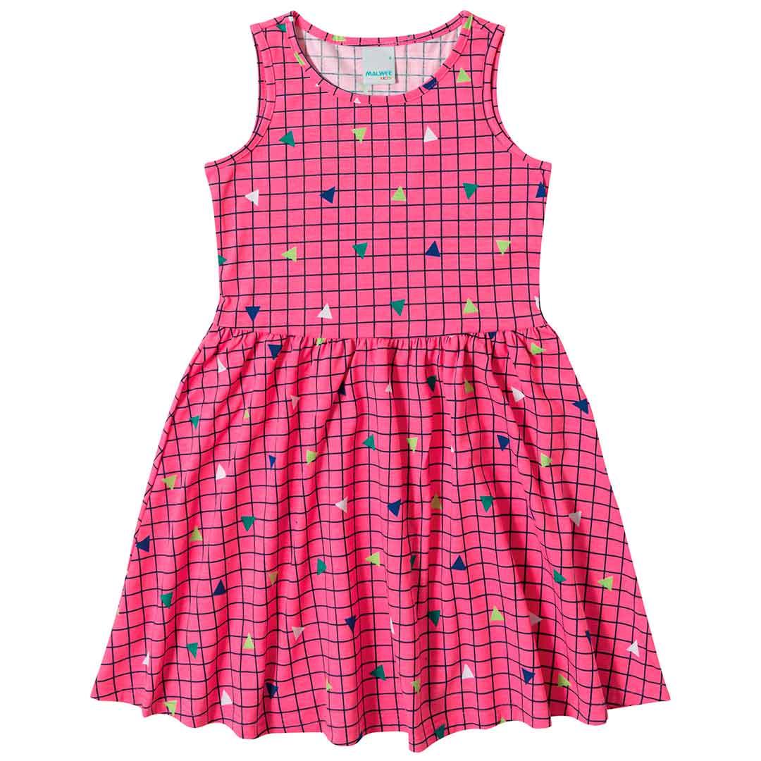 Vestido Infantil Malwee Curto Rosa Confete
