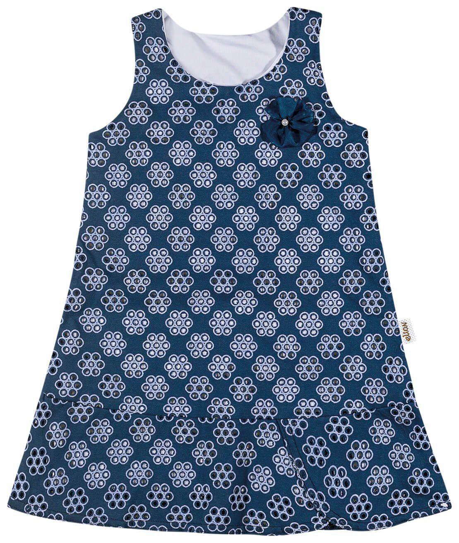 Vestido Infantil Marinho Flor Elian
