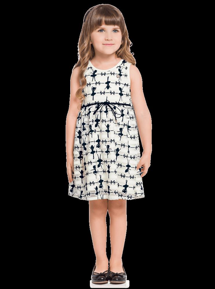Vestido Infantil OffWhite Verão Milon