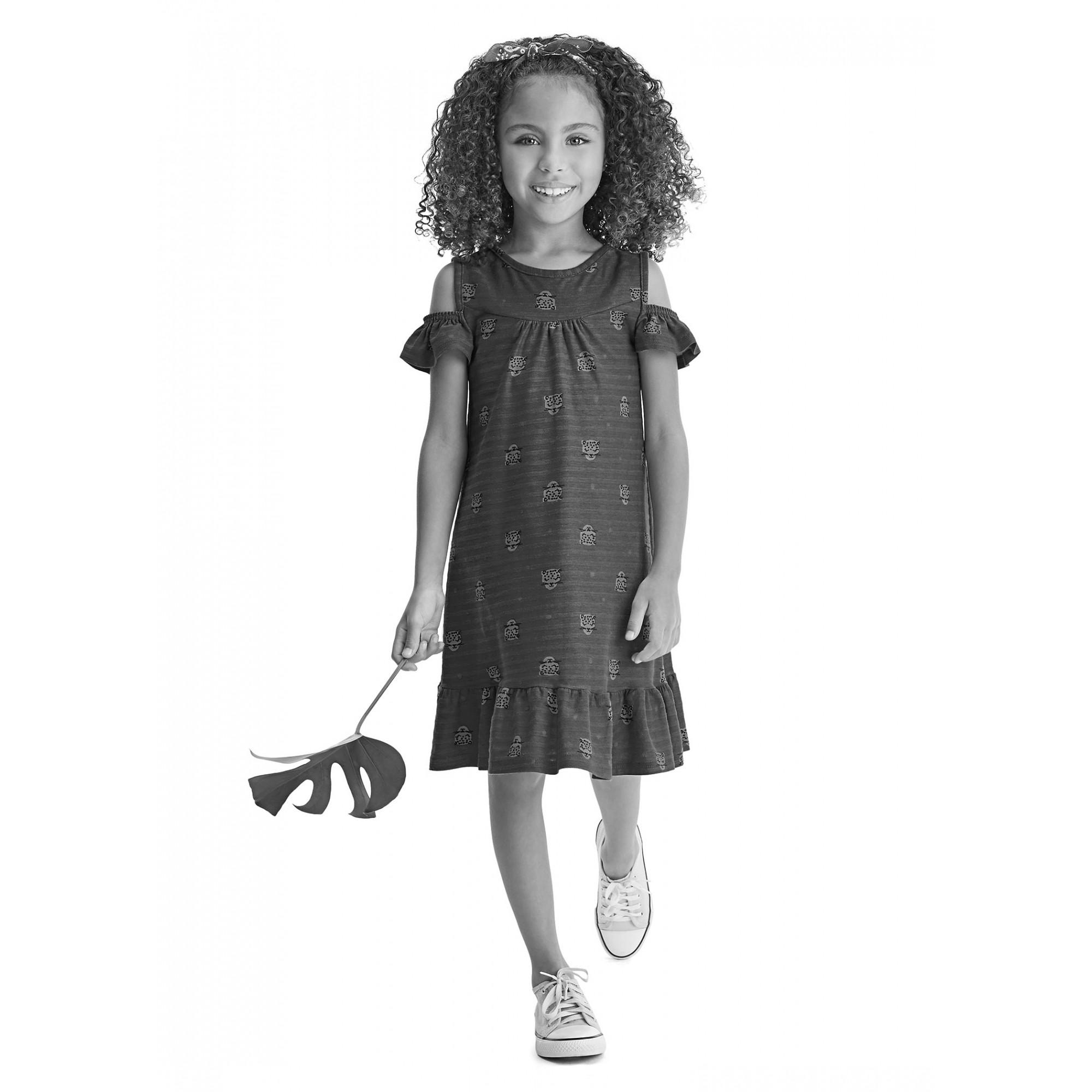 Vestido Infantil Verão Azul Cerejas Malwee
