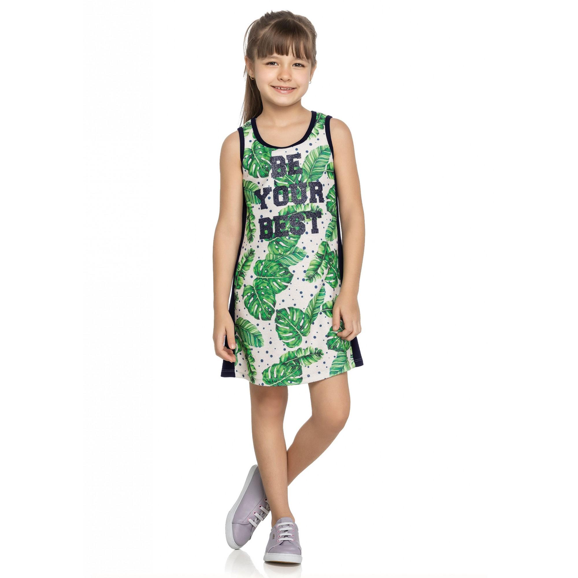 Vestido Infantil Verão OffWhite Best Elian