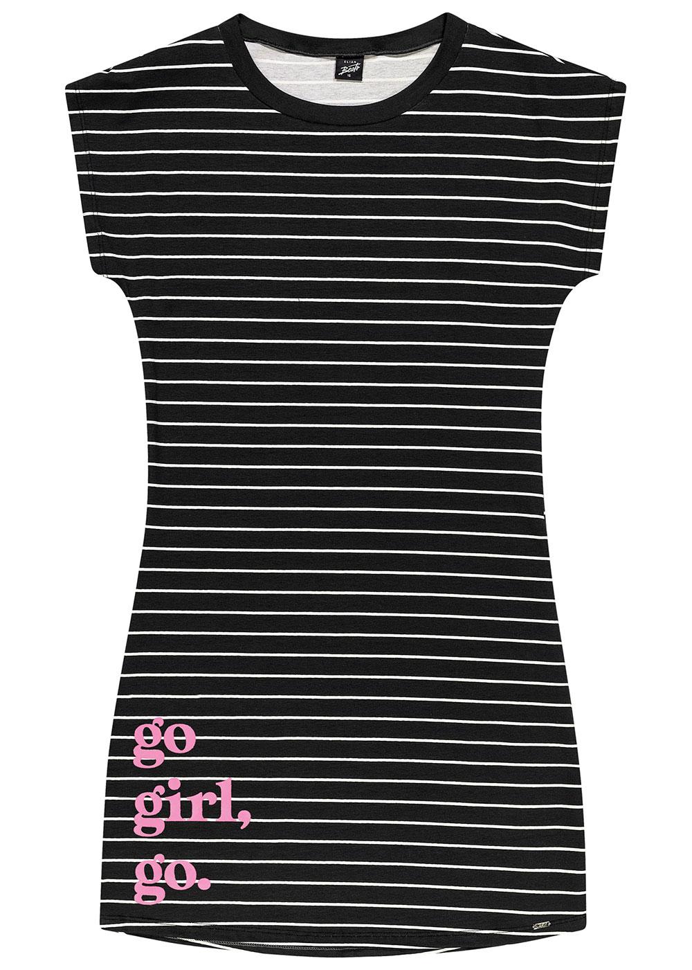 Vestido Infantil Verão Preto Go Girl Elian