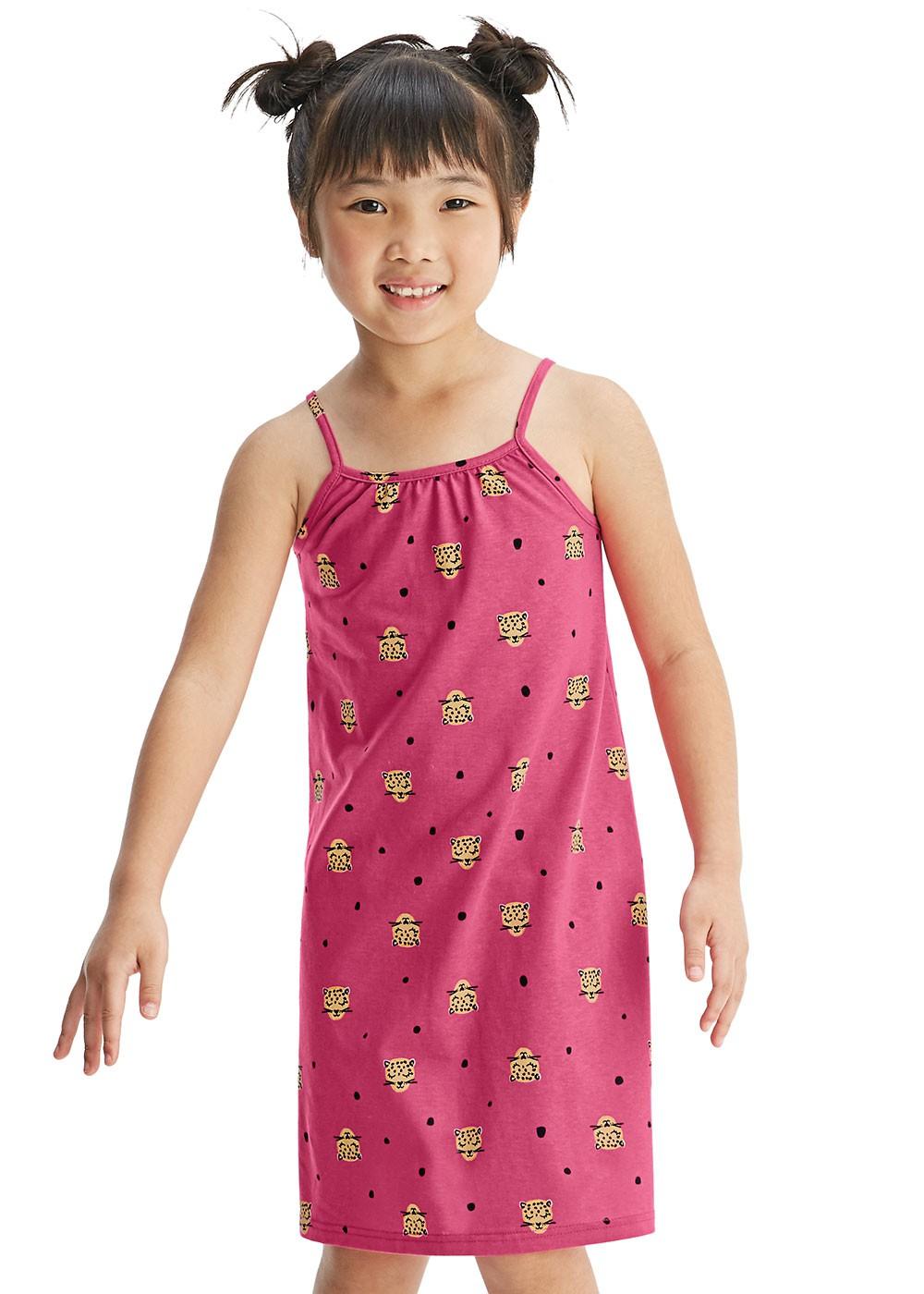 Vestido Rosa Infantil Malwee Verão Cats