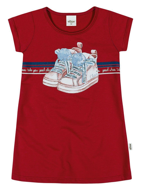 Vestido Infantil Verão Vermelho Shoes Elian