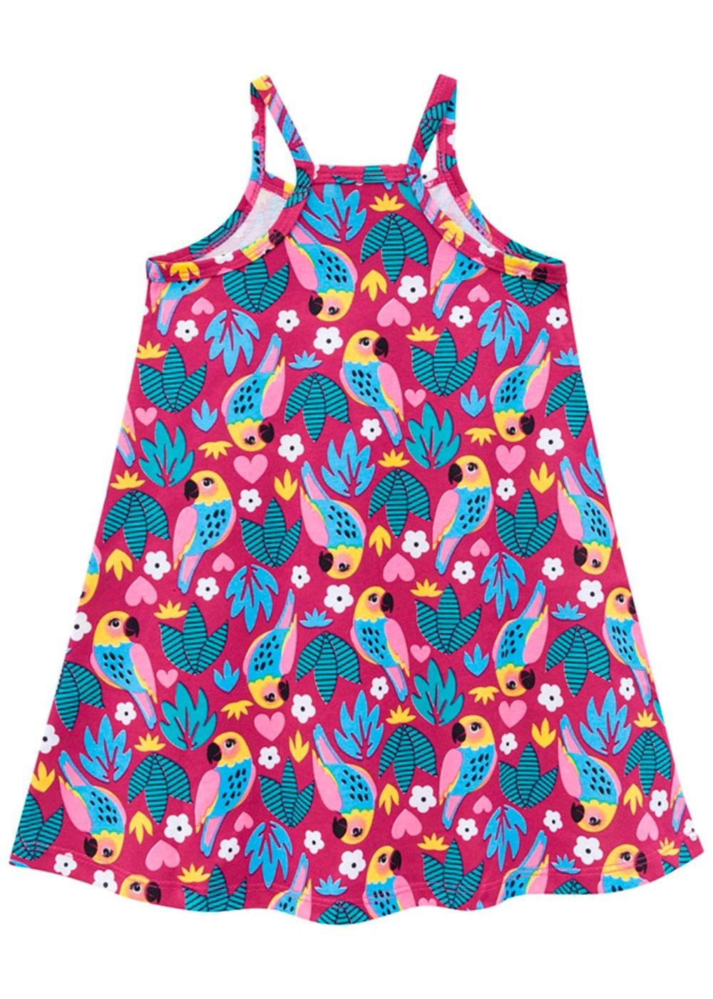 Vestido Infantil Magenta - Kyly